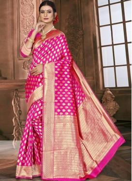 Jacquard Silk Woven Work Designer Contemporary Saree