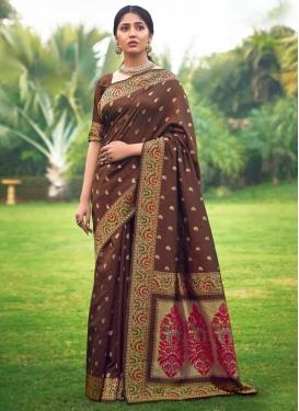 Jacquard Silk Woven Work Designer Traditional Saree
