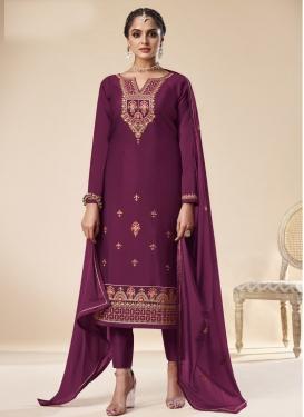 Jam Silk Embroidered Work Pant Style Pakistani Suit