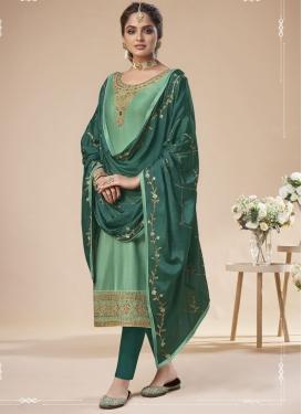 Jam Silk Pant Style Pakistani Salwar Kameez For Ceremonial