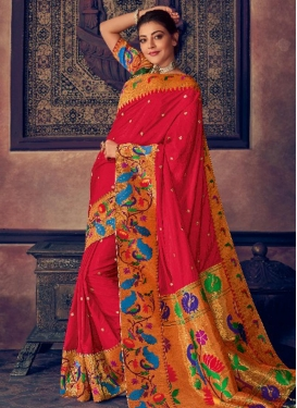 Kajal Aggarwal Art Silk Contemporary Style Saree