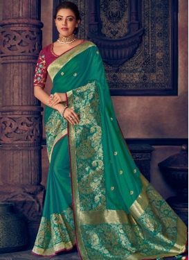 Kajal Aggarwal Art Silk Designer Contemporary Style Saree