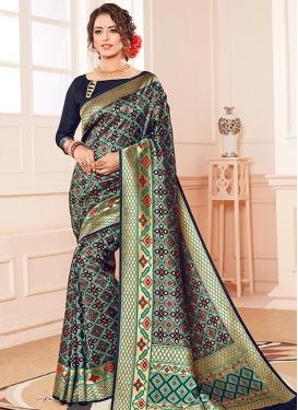 Kanjivaram Silk Thread Work Designer Contemporary Saree