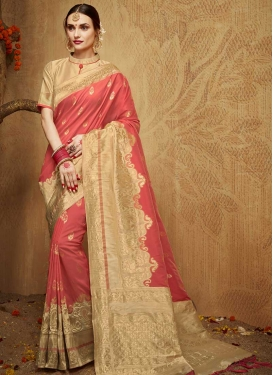 Kanjivaram Silk Thread Work Trendy Classic Saree