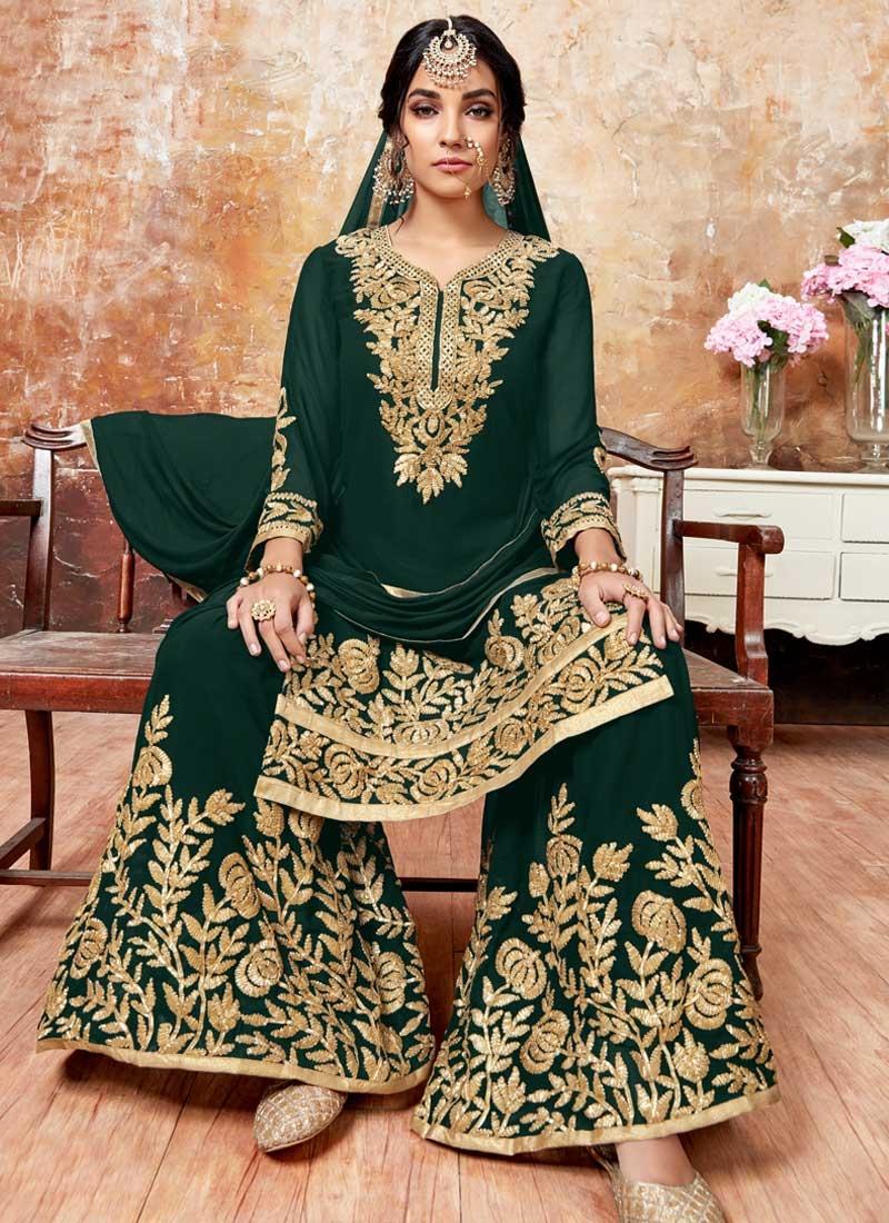 Karachi Work Sharara Salwar Suit