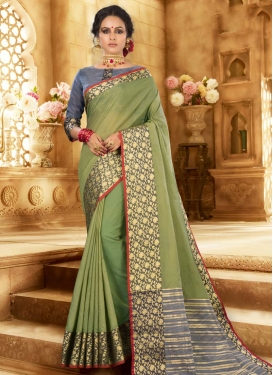 Khadi Silk Designer Contemporary Style Saree