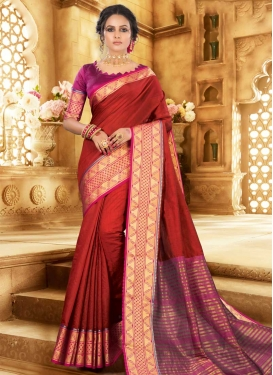 Khadi Silk Woven Work Trendy Classic Saree