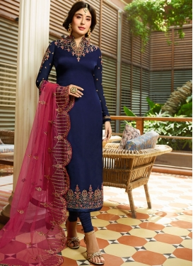Kritika Kamra Navy Blue Wedding Churidar Designer Suit