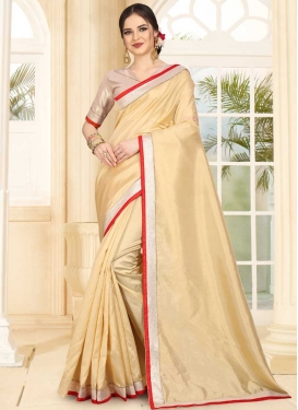 Lace Work Art Silk Designer Contemporary Style Saree