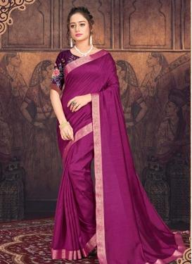 Lace Work Chanderi Silk Traditional Designer Saree