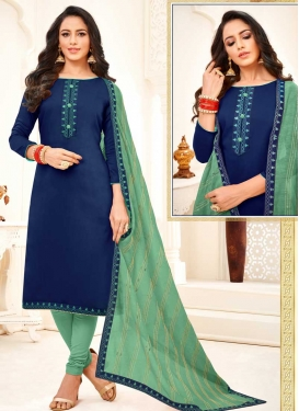 Lace Work Churidar Salwar Kameez