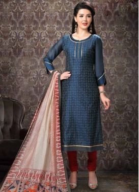 Lace Work Churidar Salwar Suit