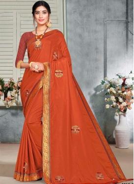 Lace Work Designer Contemporary Saree