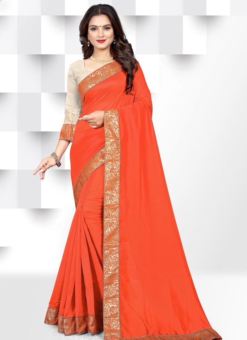 Lace Work Designer Contemporary Style Saree