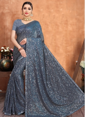 Lace Work Designer Contemporary Style Saree For Ceremonial