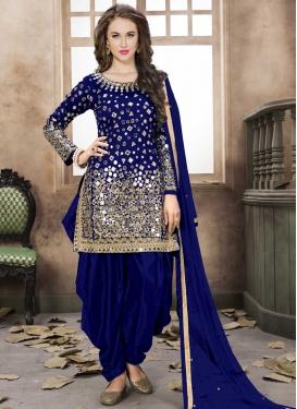 Lace Work Designer Patiala Salwar Kameez