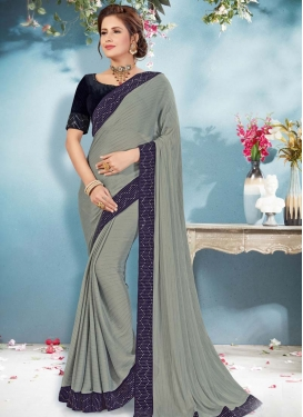 Lace Work Designer Traditional Saree For Festival