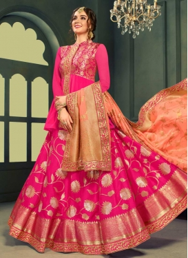 Lace Work Long Choli Lehenga