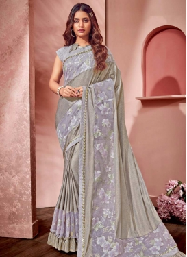 Lace Work Lycra Classic Designer Saree