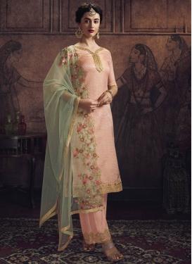 Lace Work Palazzo Style Pakistani Salwar Suit