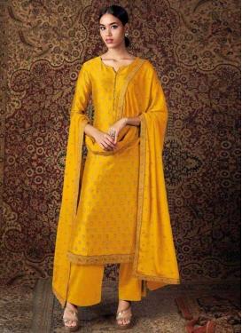 Lace Work Pant Style Pakistani Salwar Kameez