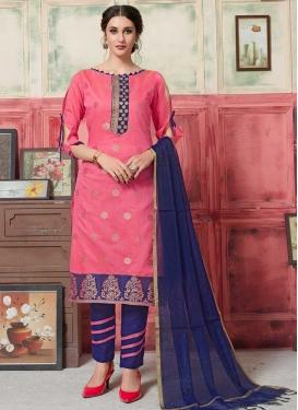 Lace Work Pant Style Salwar Kameez