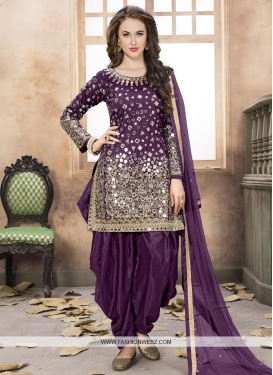 Lace Work Patiala Salwar Kameez