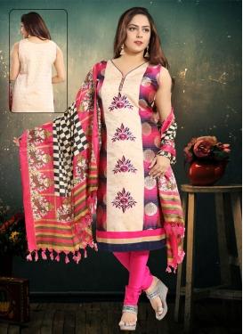 Lace Work Readymade Churidar Salwar Kameez