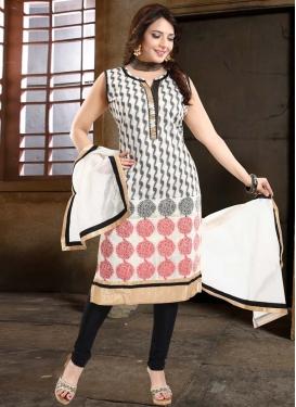 Lace Work Readymade Churidar Salwar Suit