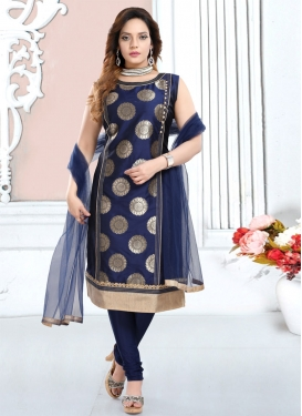 Lace Work Readymade Churidar Salwar Suit
