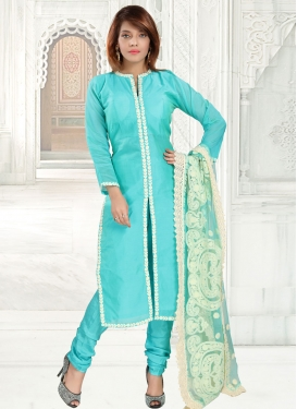Lace Work Readymade Churidar Suit