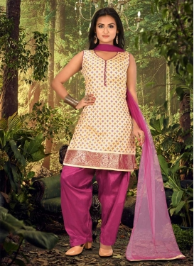 Lace Work Readymade Designer Suit