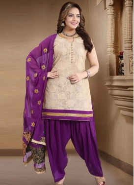 Lace Work Readymade Salwar Kameez