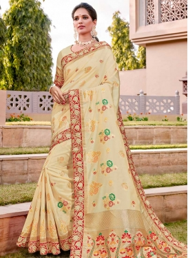 Lace Work Silk Traditional Designer Saree