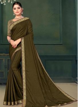Lace Work Traditional Designer Saree
