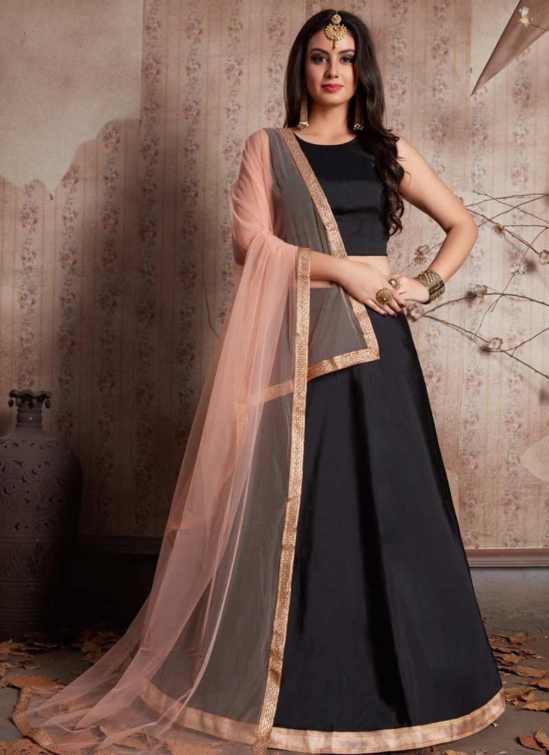 Lace Work Trendy A Line Lehenga Choli