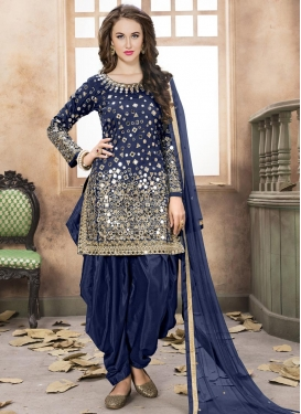 Lace Work Trendy Patiala Salwar Kameez