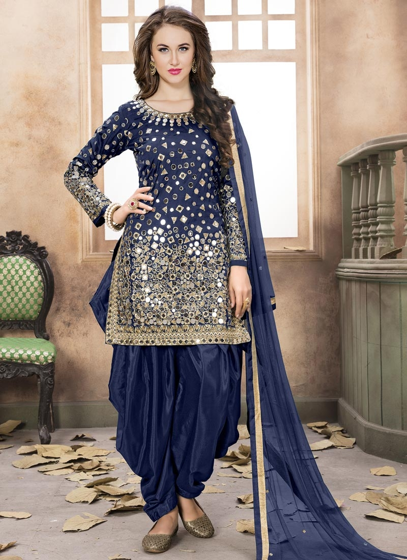 Lace Work Trendy Patiala Salwar Kameez