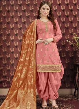 Lace Work Trendy Patiala Salwar Suit