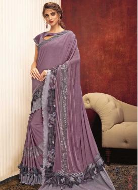 Lace Work Trendy Saree