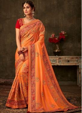 Latest Embroidered Wedding Designer Traditional Saree