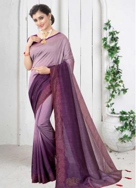 Lavender and Purple Art Silk Trendy Classic Saree