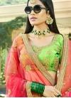 Lehenga Choli Lace Art Silk in Mint Green - 1