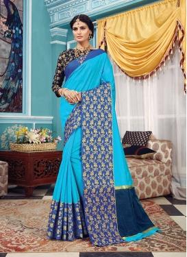 Light Blue Ceremonial Traditional Designer Saree