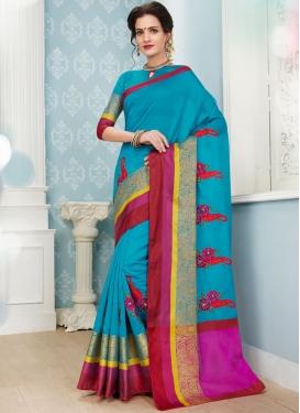 Light Blue Color Traditional Saree