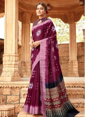 Linen Contemporary Style Saree