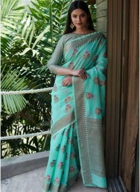 Linen Contemporary Style Saree