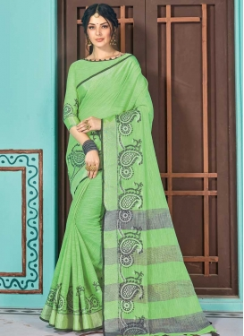 Linen Contemporary Style Saree For Casual