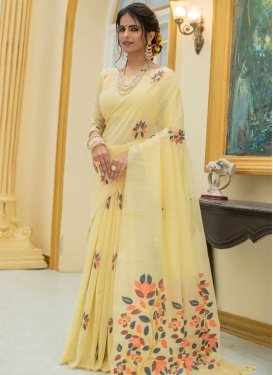 Linen Contemporary Style Saree For Ceremonial