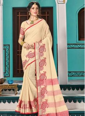 Linen Designer Contemporary Saree